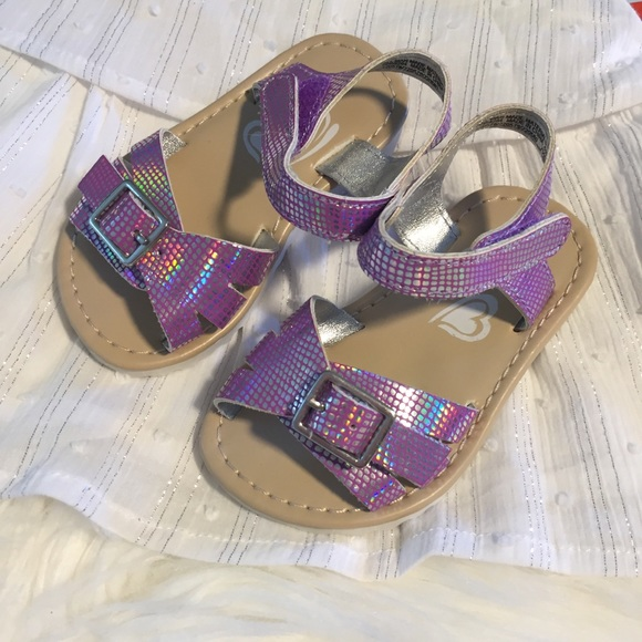Children's Place Other - Iridescent Purple Buckle & Velcro Sandal